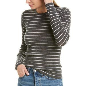 Vince. Wool Stripe Sweater Grey Off White